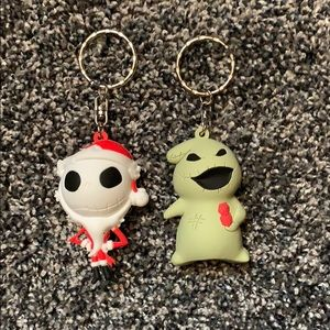 Disney FOUR Nightmare Before Christmas Keychains